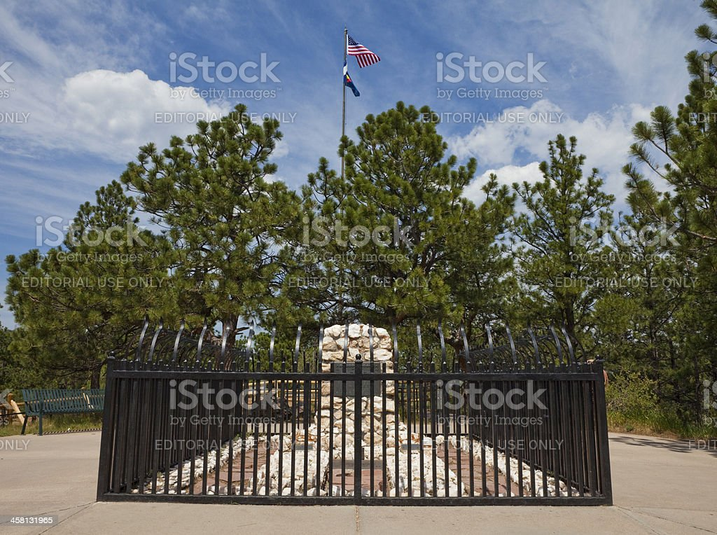 William Frederick 'Buffalo Bill' Cody's Grave - Golden, Colorado stock photo