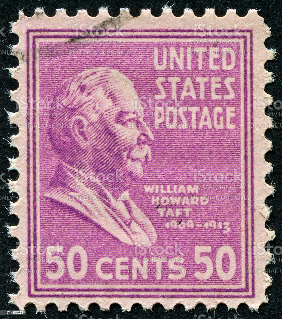 William Howard Taft Stamp royalty-free stock photo