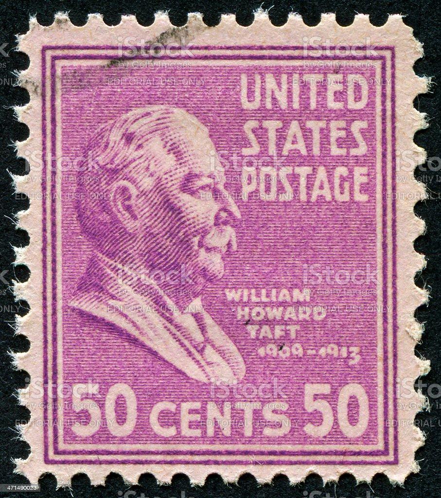 William Howard Taft Stamp stock photo