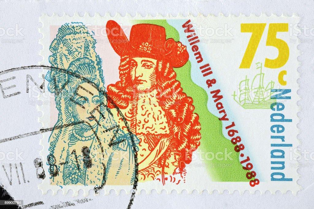 William III of Orange and Mary  (XL) stock photo