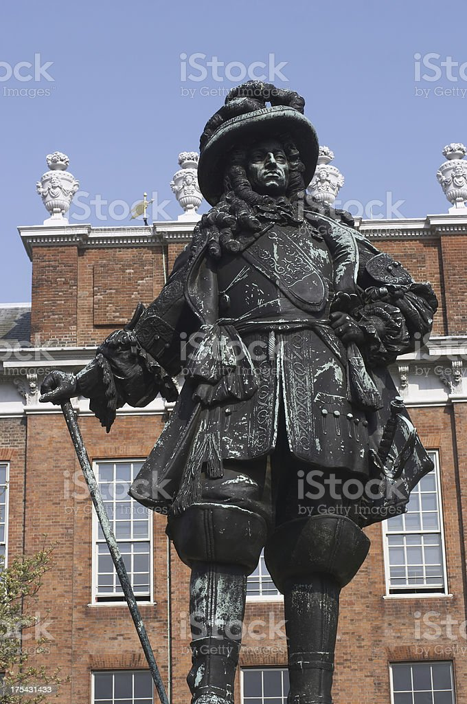 Statue William III of Orange king from 1689 to 1702 royalty-free stock photo