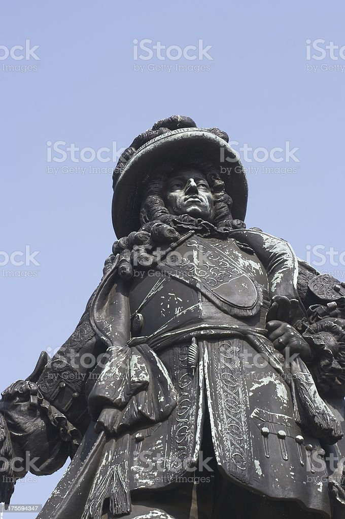 Statue William III of Orange king from 1689 to 1702 stock photo