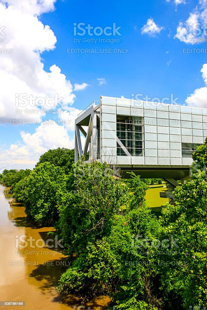 William J. Clinton Presidential Center building in Little Rock Arkansas stock photo