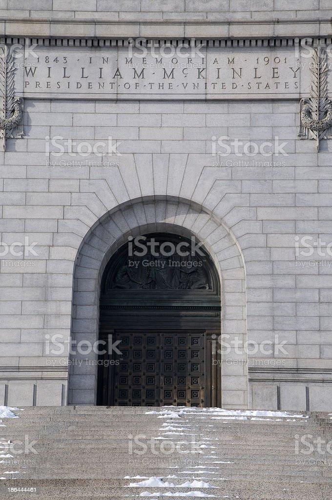 William Mcinley Monument stock photo