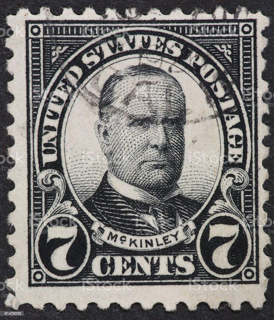 William McKinley stamp 1922 stock photo