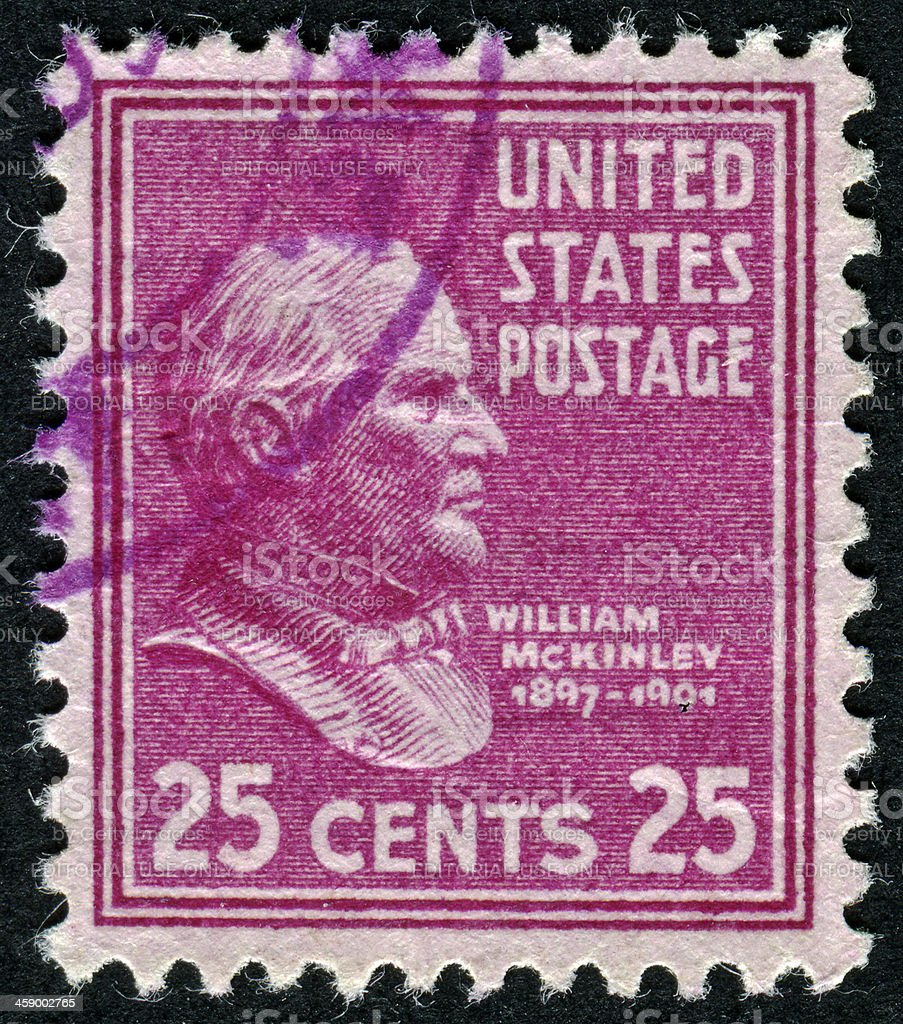 William McKinley Stamp royalty-free stock photo