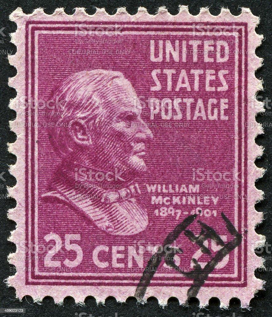 William McKinley Stamp stock photo