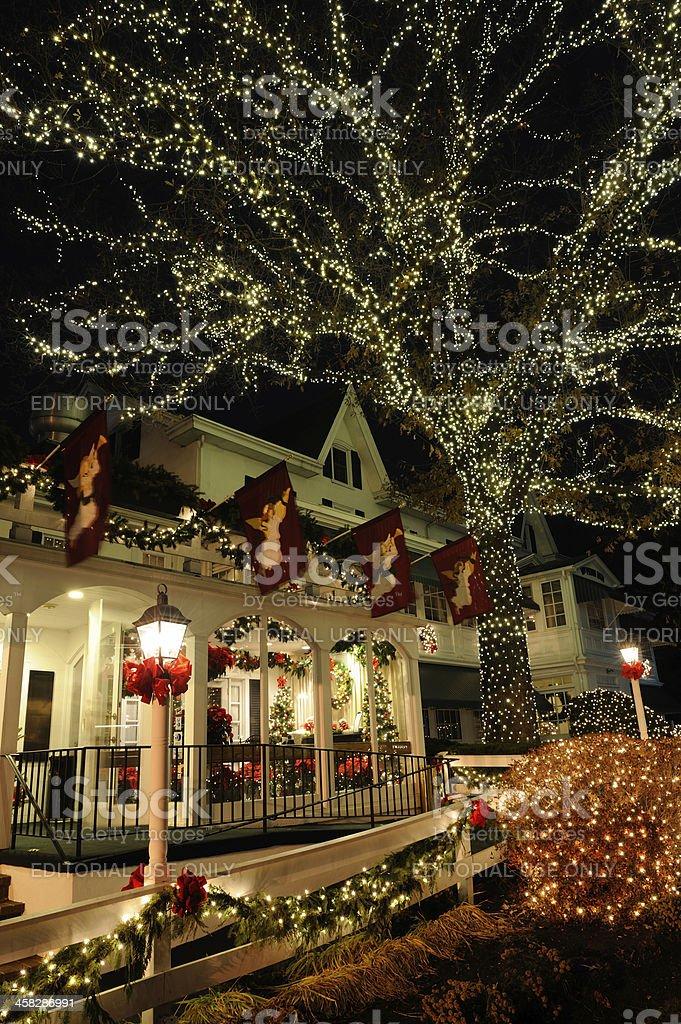 william penn inn with christmas lights royalty free stock photo