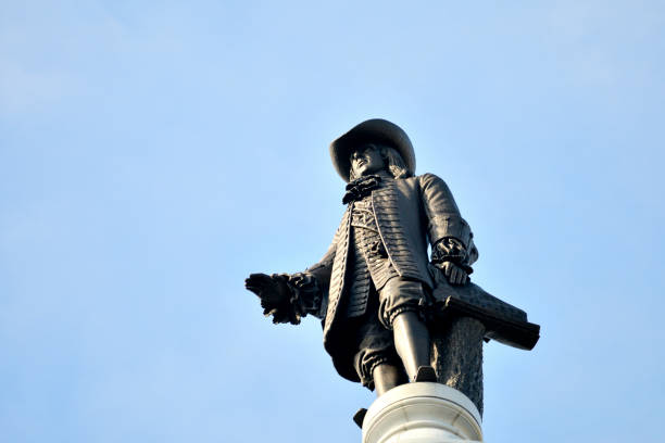 William Penn Statue atop of City Hall in Philadelphia, Pennsyvlania stock photo