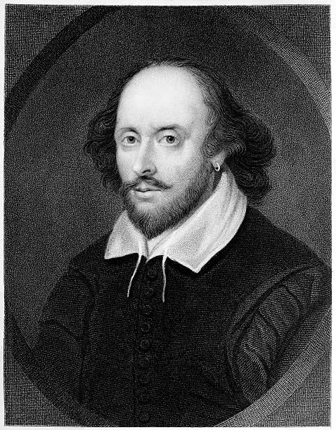 william shakespeare-gravur - drehbuchautor stock-fotos und bilder
