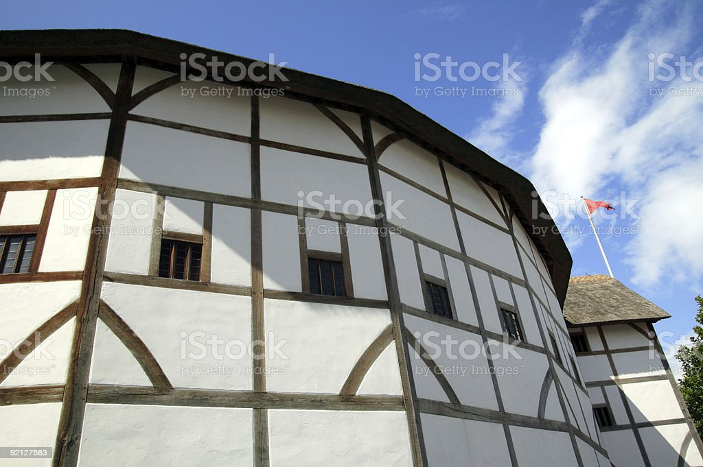 William Shakespeare Globe Theatre royalty-free stock photo