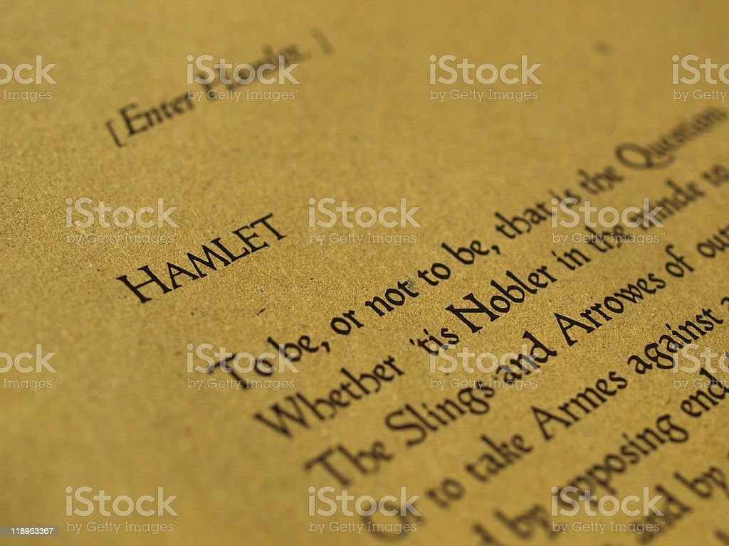 William Shakespeare Hamlet royalty-free stock photo