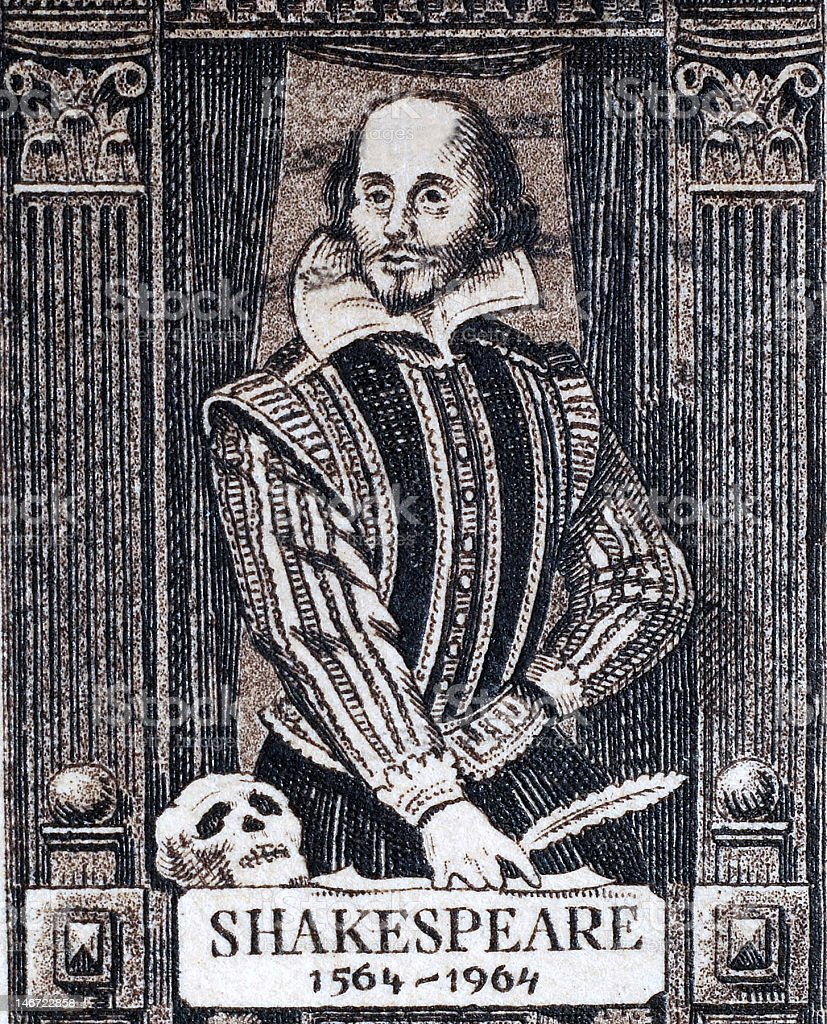 William Shakespeare royalty-free stock photo