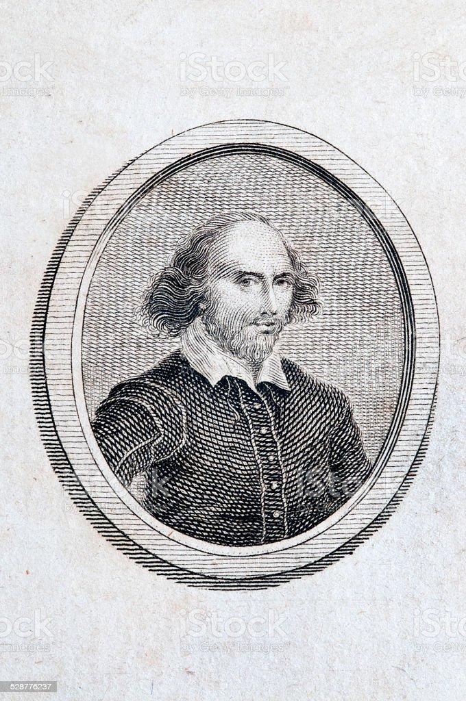 William Shakespeare Portrait stock photo