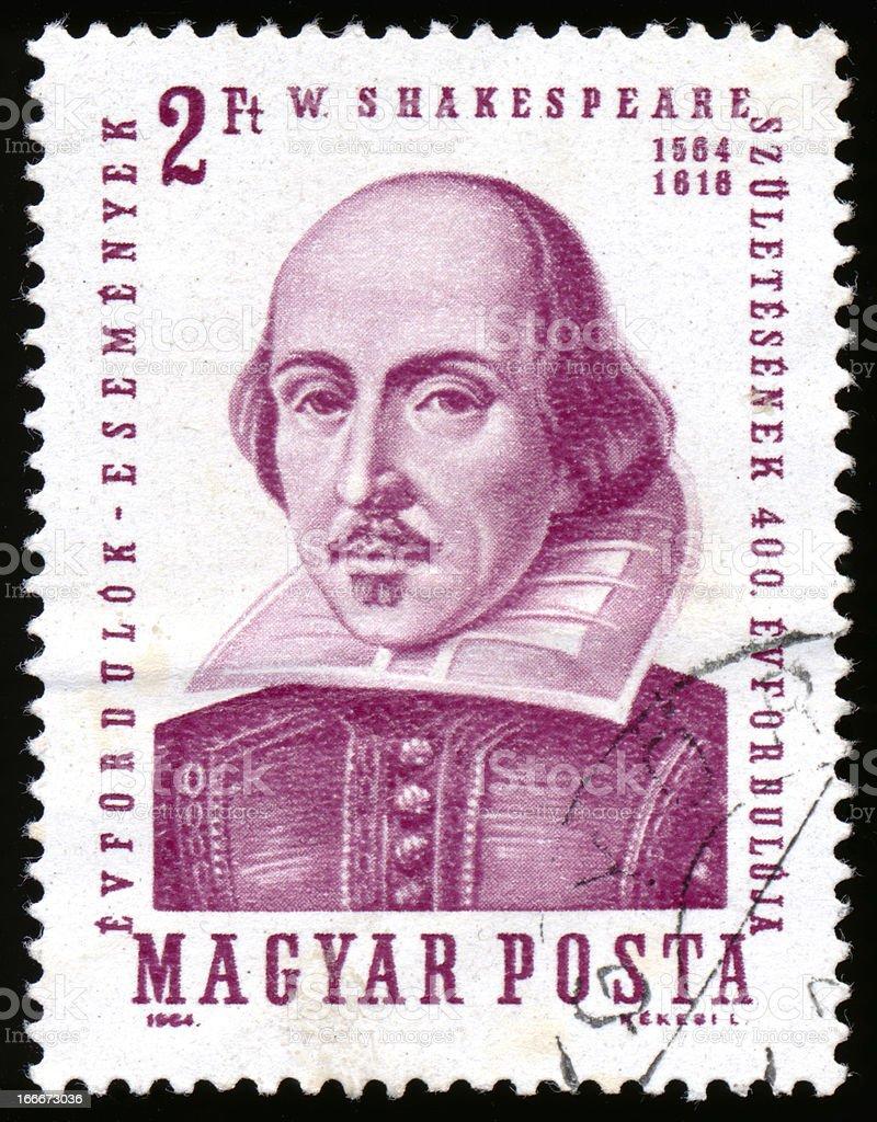 William Shakespeare postage stamp - circa 1964 royalty-free stock photo