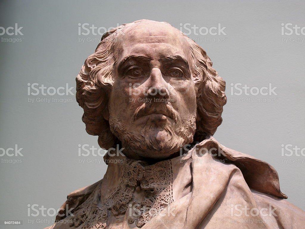 William Shakespeare sculpture royalty-free stock photo