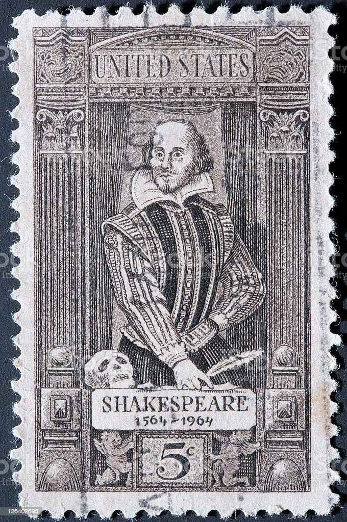 William Shakespeare stamp stock photo