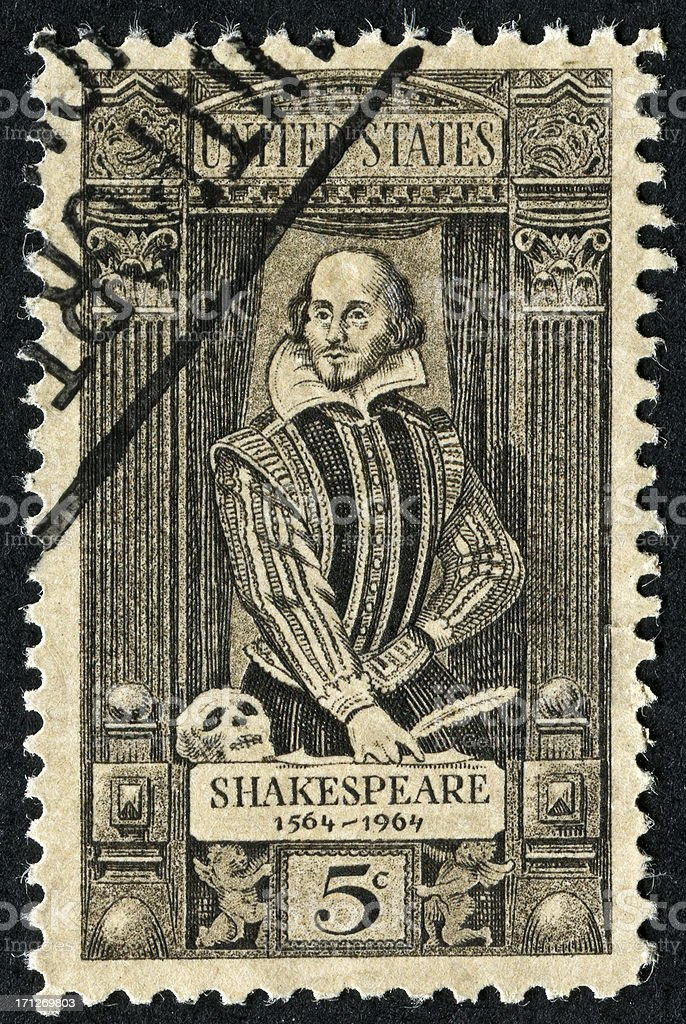 William Shakespeare Stamp royalty-free stock photo