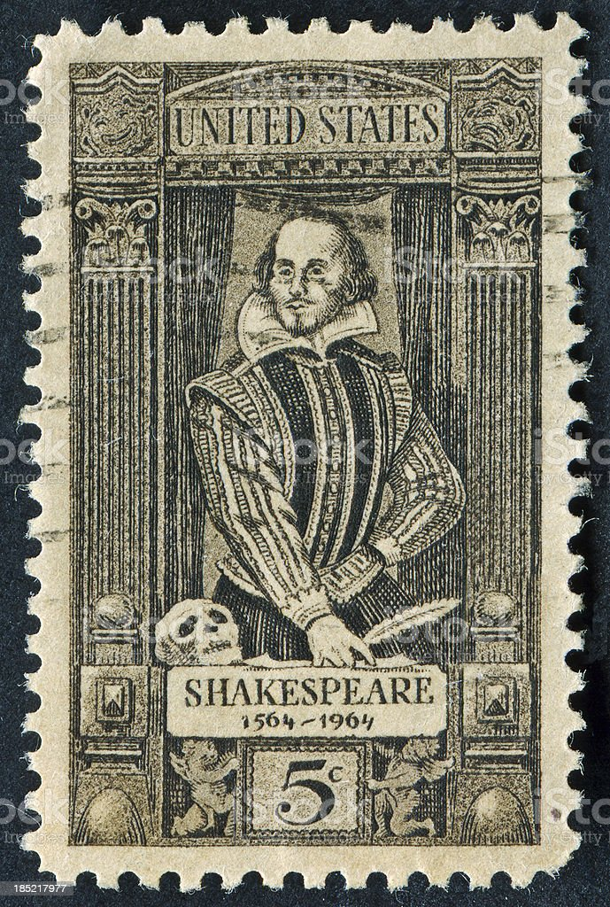William Shakespeare Stamp royalty-free stock photo