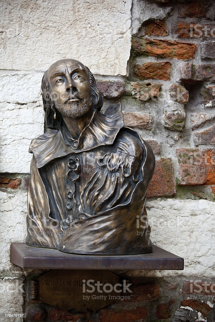 William Shakespeare statue royalty-free stock photo