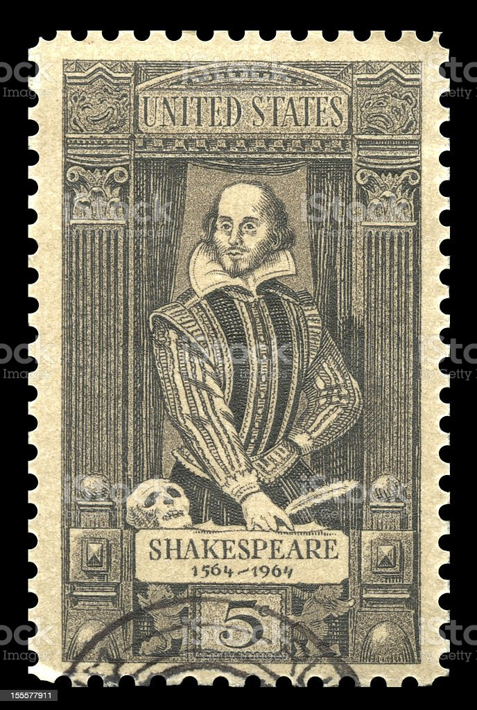 William Shakespeare USA Postage Stamp royalty-free stock photo