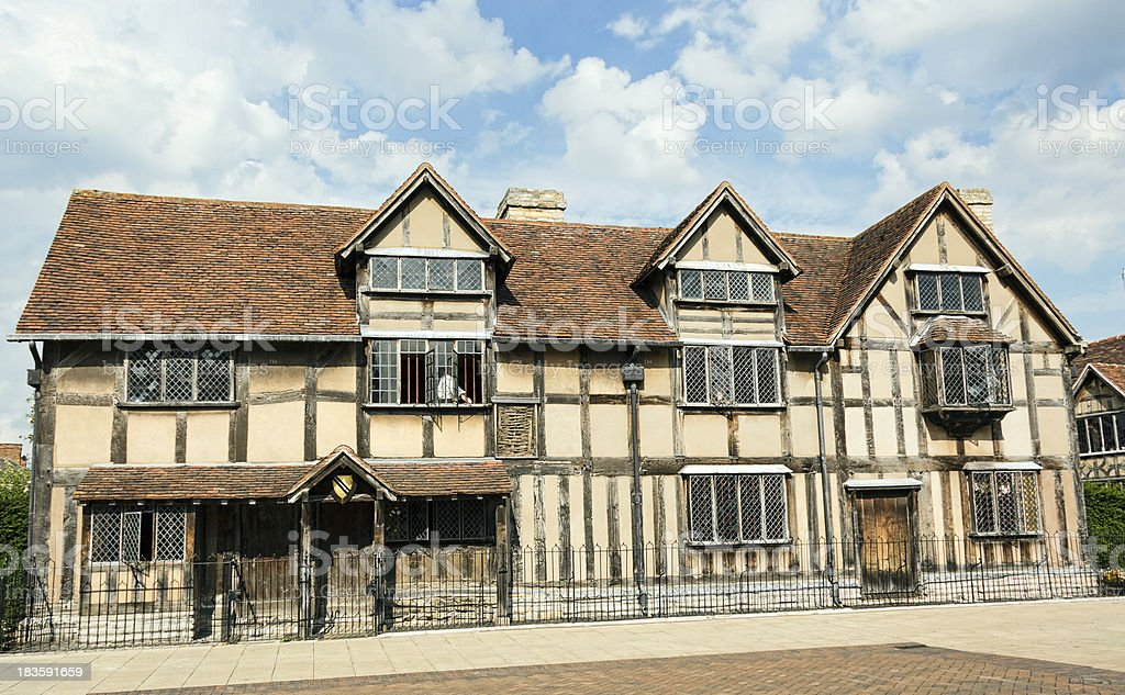 William Shakespeare's birth place. royalty-free stock photo