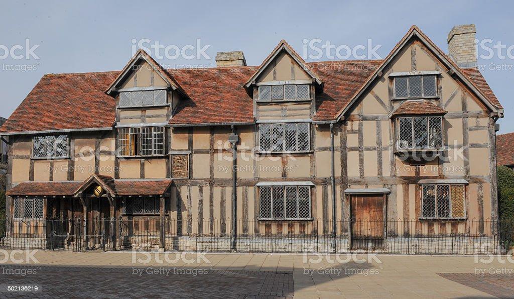William Shakespeare's Birthplace, Henley Street, Stratford-upon-Avon stock photo