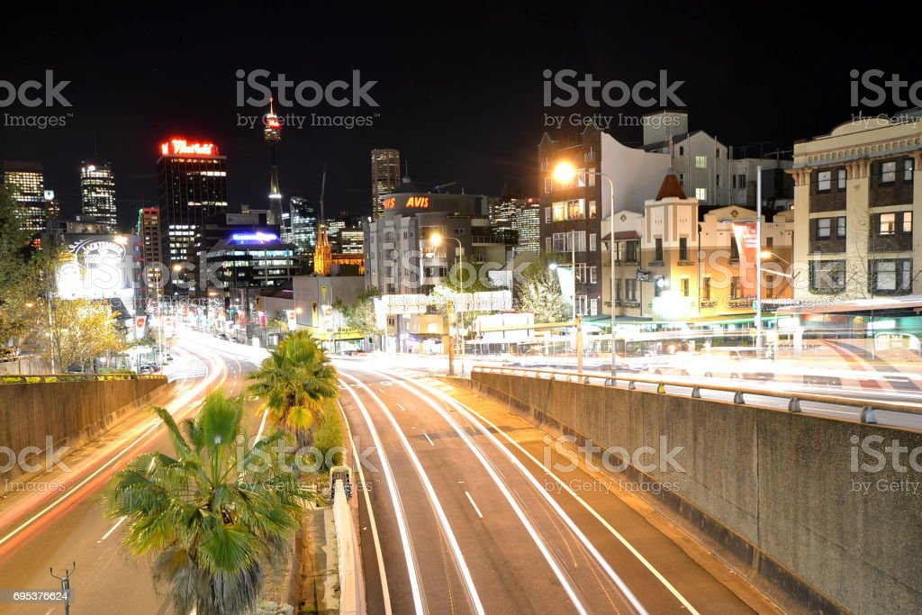 William Street, Sydney stock photo