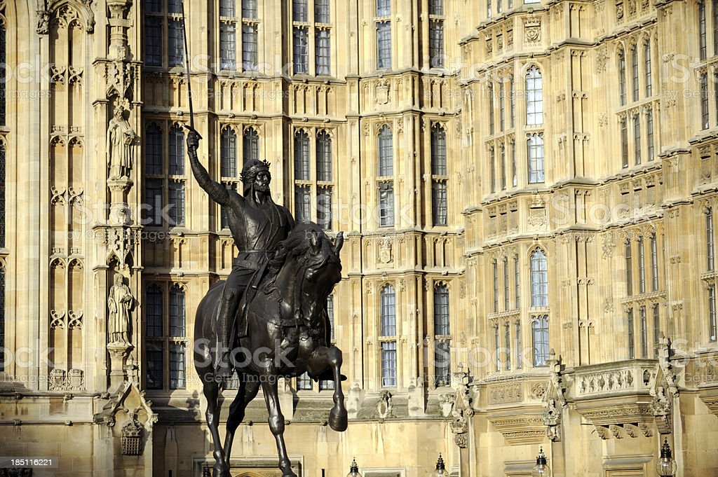 William the conqueror Statue. Westminster London. stock photo