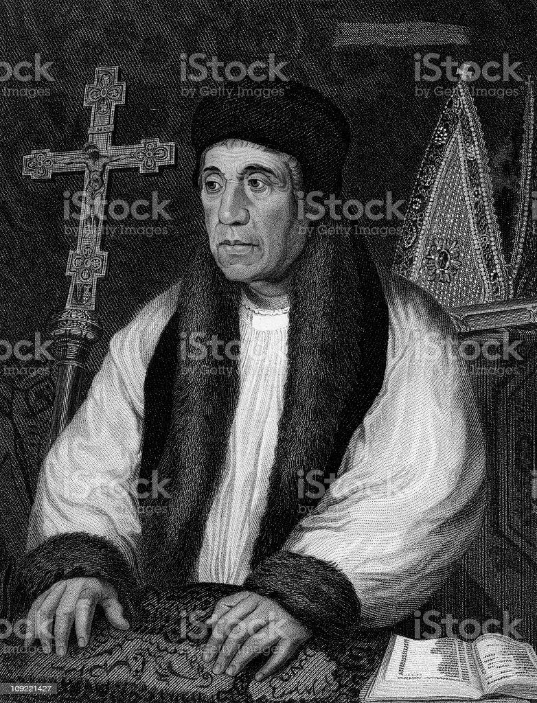 William Warham, Archbishop of Canterbury royalty-free stock photo