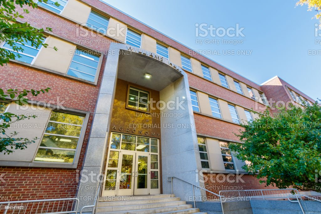Williams Hall at NC State University stock photo