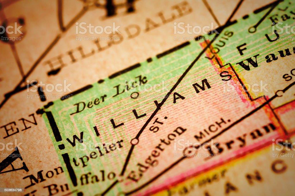 Williams | Ohio County Maps stock photo
