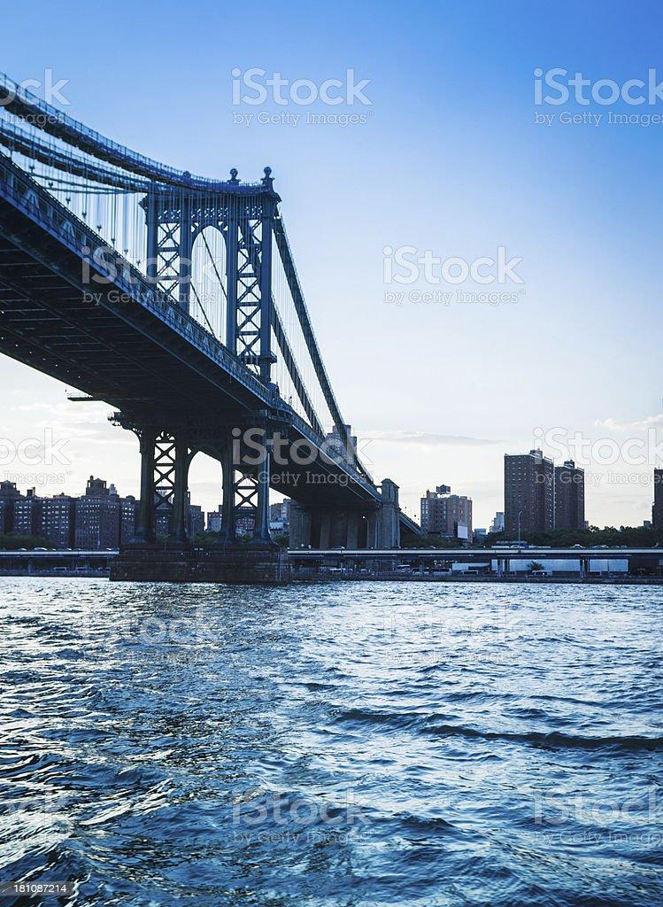 Williamsburg Bridge in Manhattan royalty-free stock photo