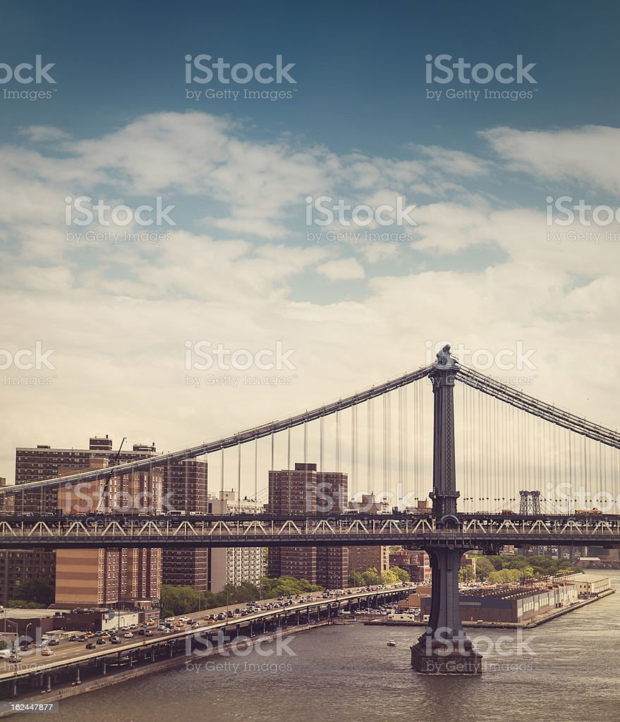 Williamsburg Bridge royalty-free stock photo