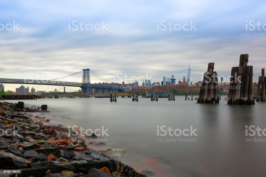Williamsburg brooklyn And East River royalty-free stock photo