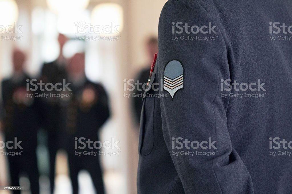 Willing and able to defend stock photo