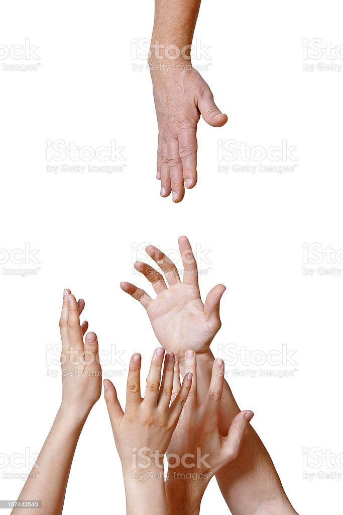 Willing help royalty-free stock photo