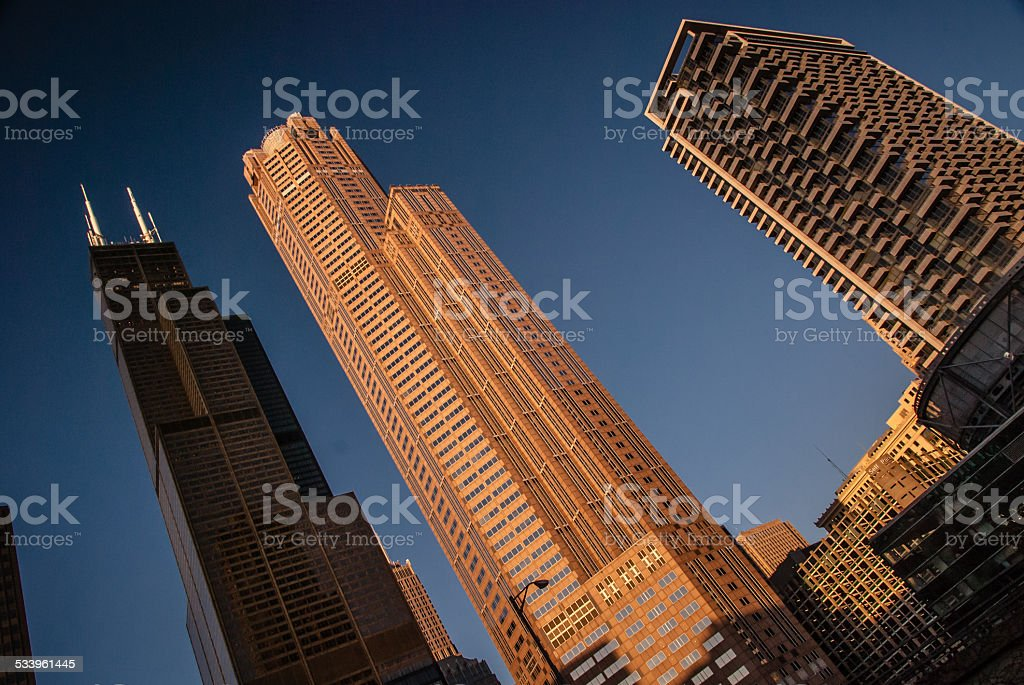 Willis Tower in Chicago, IL stock photo