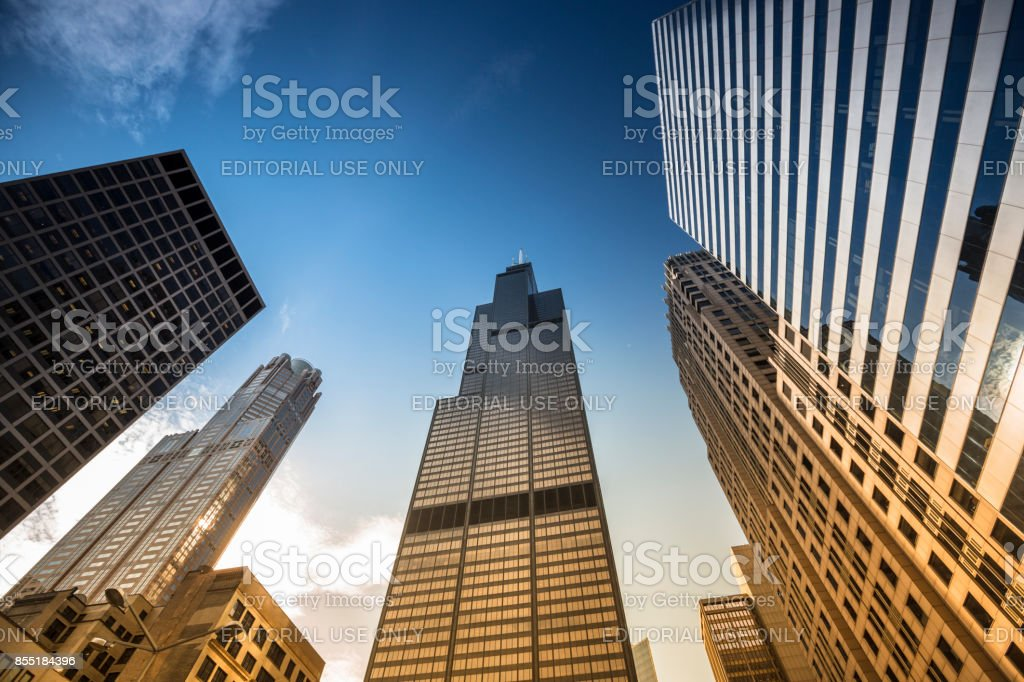 Willis Tower in Chicago Illinois USA stock photo