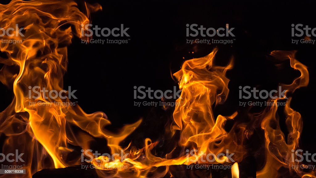 Will-o'-the-wisp - Royalty-free Black Background Stock Photo