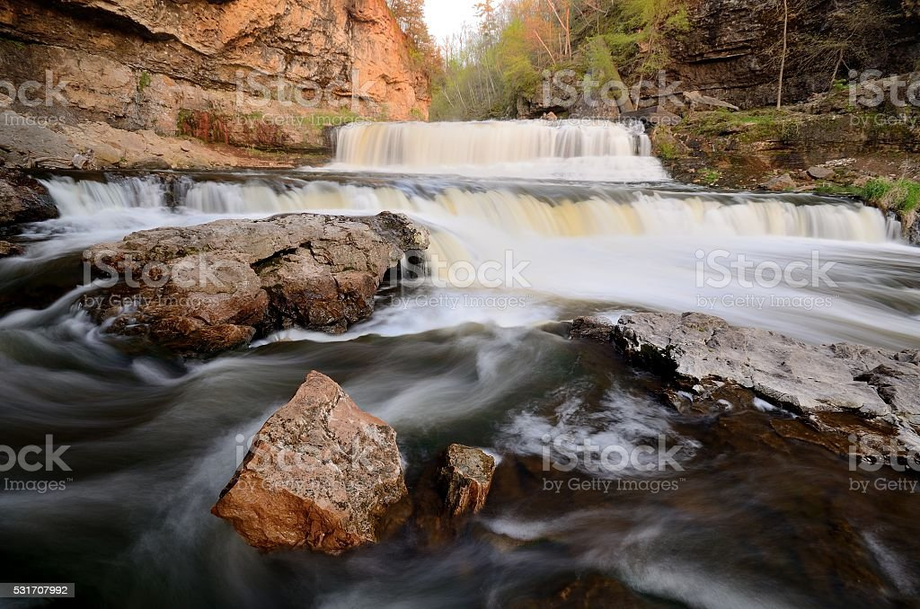 Willow River Falls stock photo