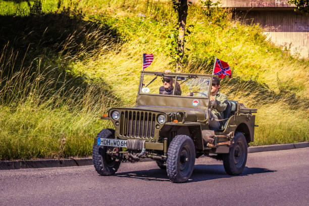 Willys Heidenheim, Germany - July 8, 2018: Willys at the 2. Oldtimer day in Heidenheim an der Brenz, Germany. willys stock pictures, royalty-free photos & images