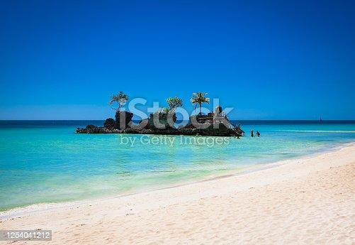 Willys Rock christian shrine on Boracay tropical island, Philippines.