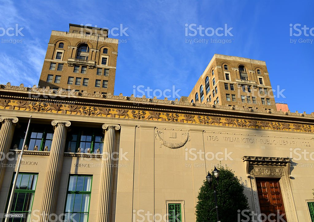 Wilmington, DE: Public Library royalty-free stock photo