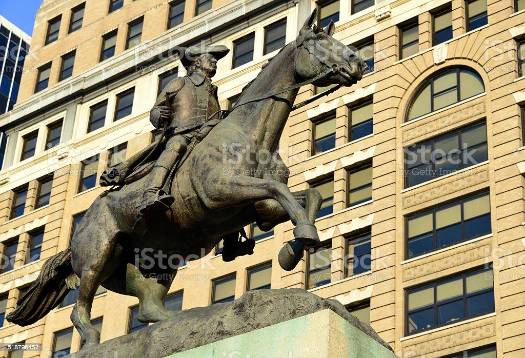 Wilmington, Delaware: statue of Caesar Rodney stock photo