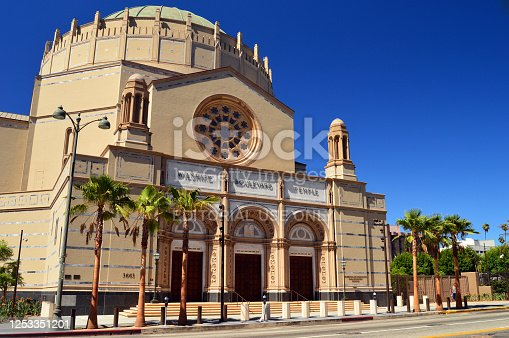 Los Angeles, CA, USA July 24, 2014 The Wilshire Boulevard Temple is the center of Jewish culture in Los Angeles