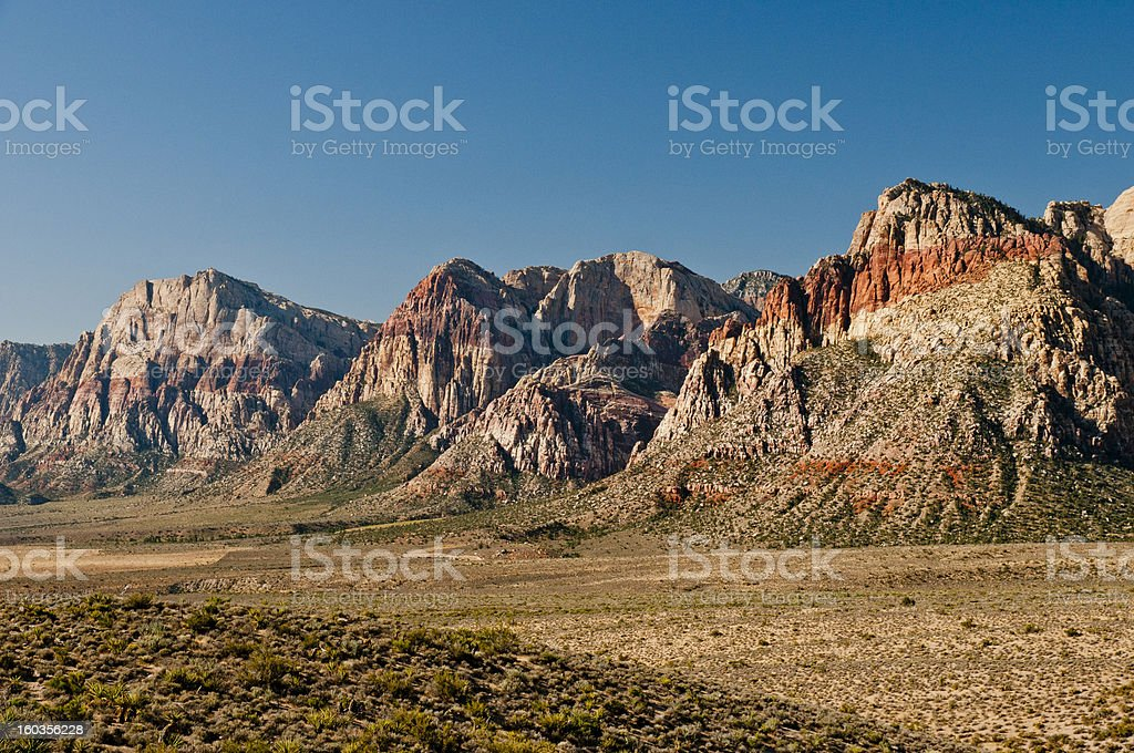Wilson cliffs in Red rock canyon stock photo