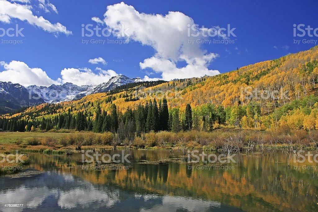 Wilson Creek, Sneffels Range wilderness, Colorado stock photo