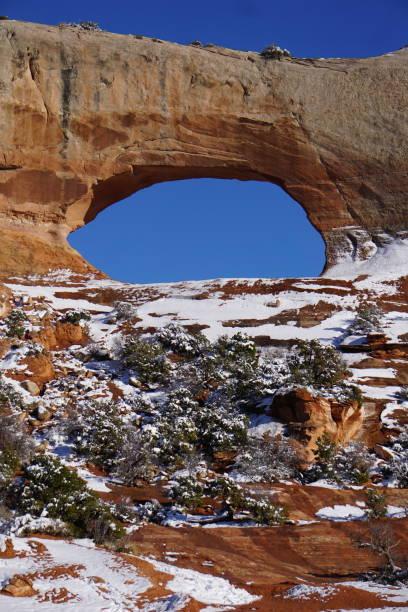 Wilson's Arch Snow stock photo