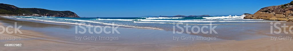 Wilsons Promontory Squeaky Beach Panorama stock photo